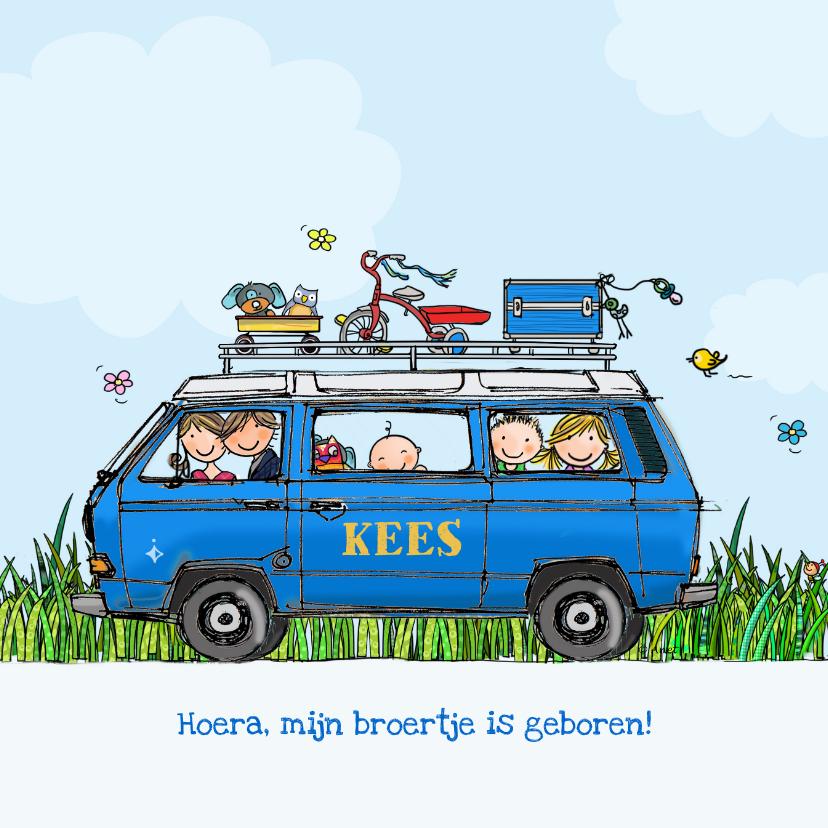 Geboortekaartjes - Geboortekaart VW T3 Joker blauw