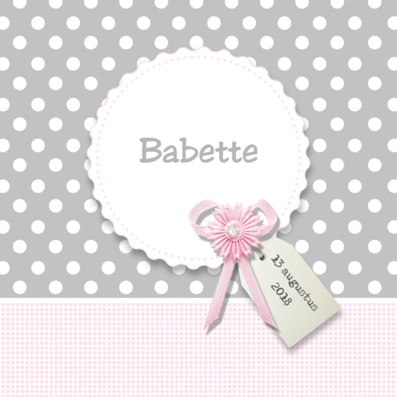 Geboortekaartjes - Geboortekaartje Babette - LOVZ