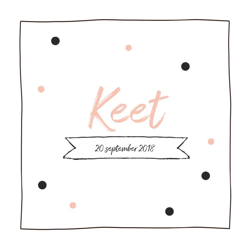 Geboortekaartjes - Geboortekaartje Belle confetti