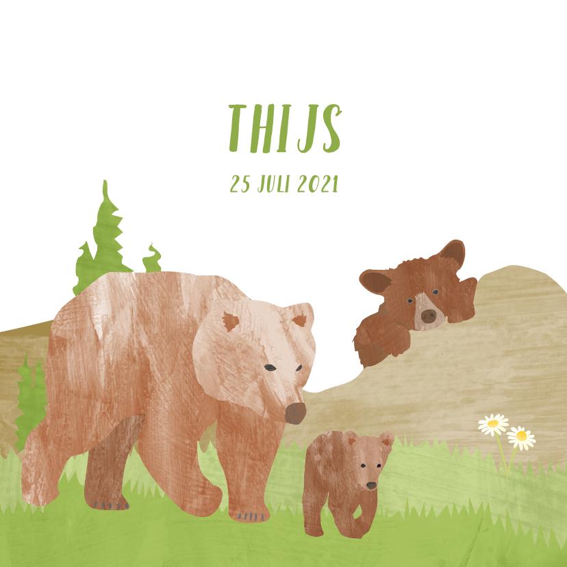 Geboortekaartjes - Geboortekaartje beren in de bergen