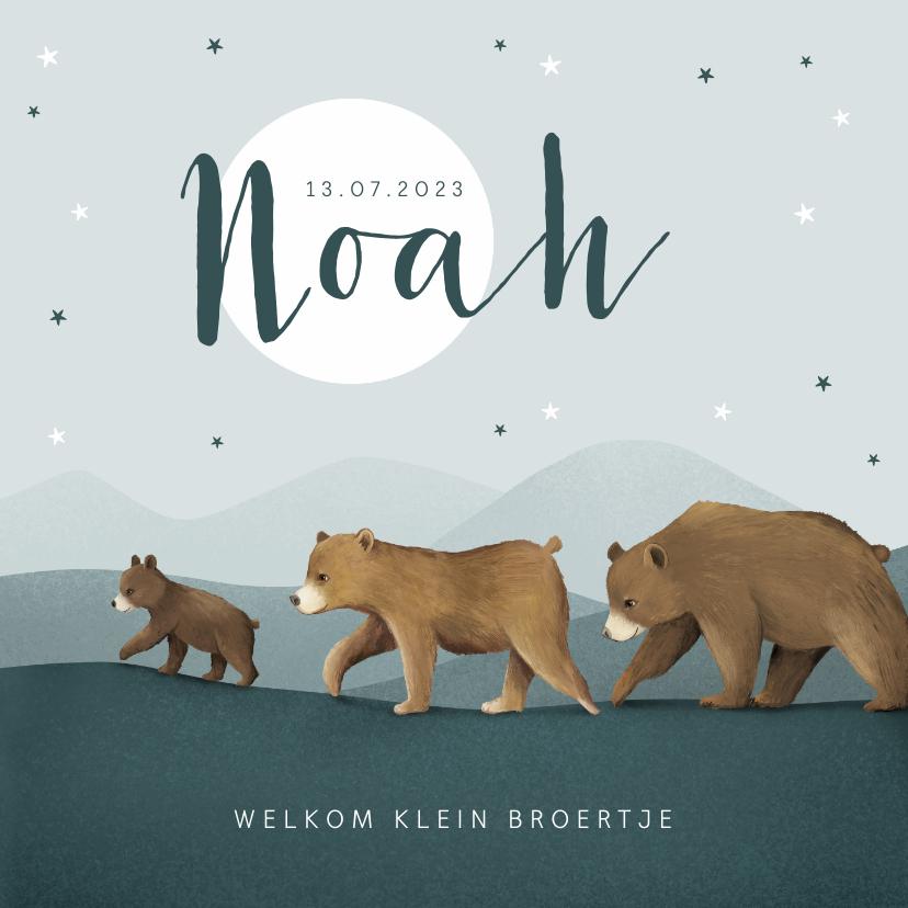 Geboortekaartjes - Geboortekaartje berenfamilie dieren