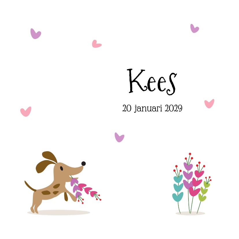 Geboortekaartjes - Geboortekaartje blij hondje