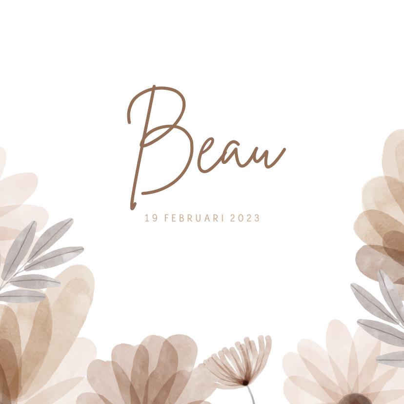 Geboortekaartjes - Geboortekaartje bohemian bloemen