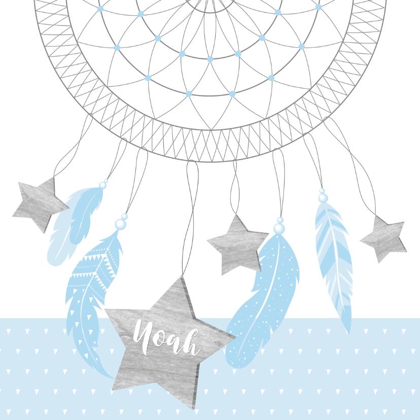 Geboortekaartjes - Geboortekaartje dromenvanger sterren jongen