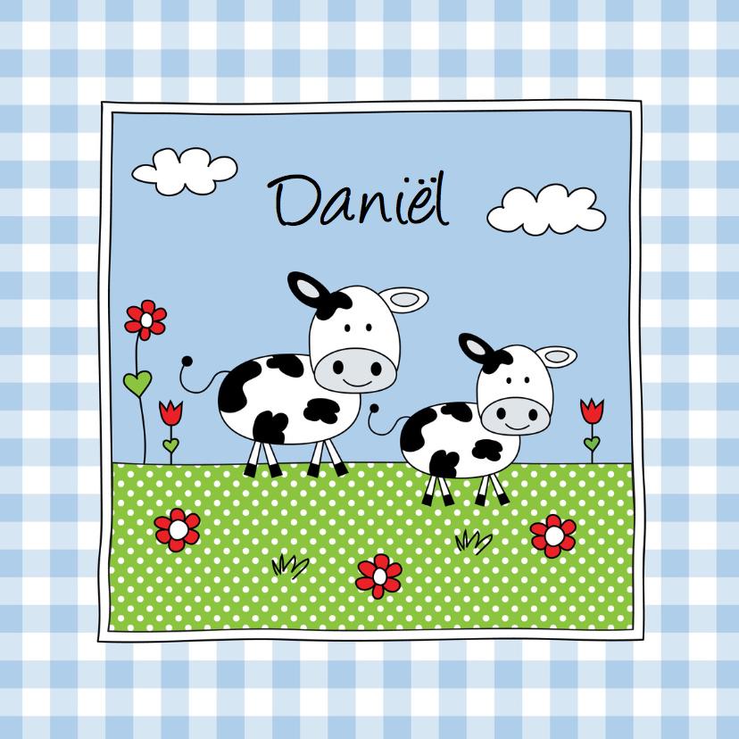 Geboortekaartjes - Geboortekaartje broertje koe weiland