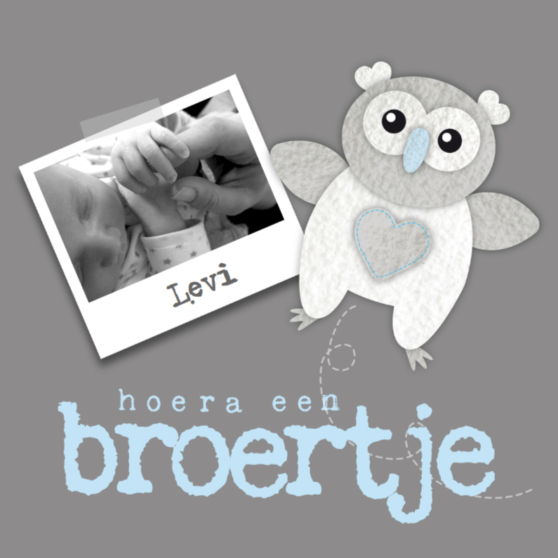 Geboortekaartjes - Geboortekaartje Broertje Uiltje