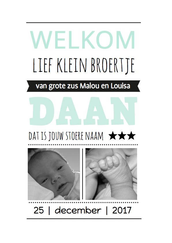 Geboortekaartjes - Geboortekaartje Broertje welkom