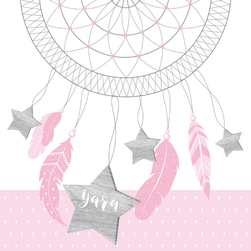 Geboortekaartjes - Geboortekaartje dromenvanger sterren meisje