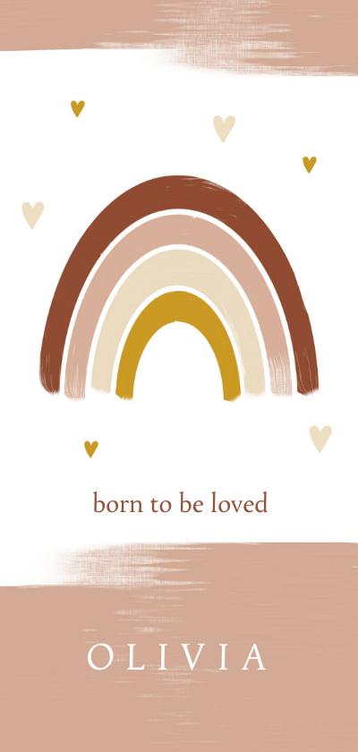 Geboortekaartjes - Geboortekaartje dubbel meisje regenboog