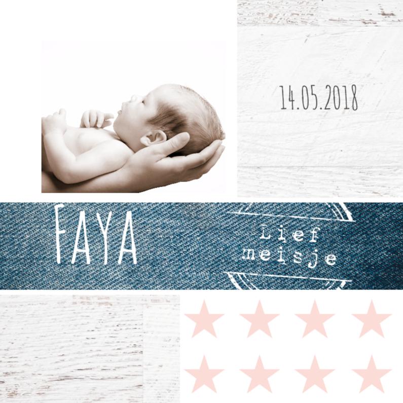Geboortekaartjes - Geboortekaartje Faya