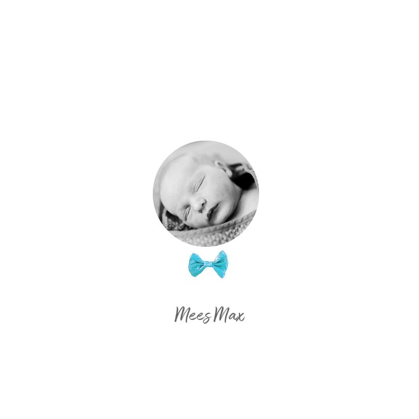 Geboortekaartjes - Geboortekaartje foto's strikje jongen