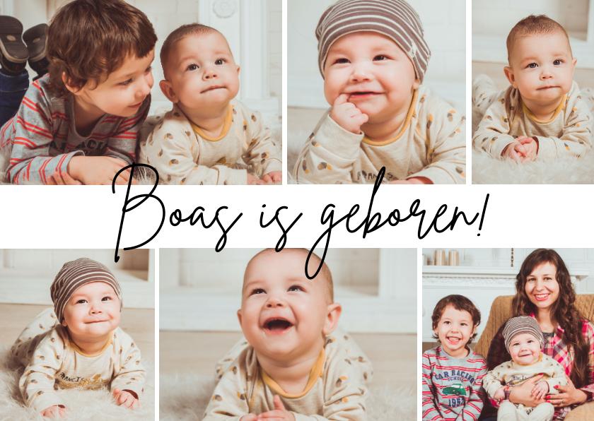 Geboortekaartjes - Geboortekaartje fotocollage 6 foto's