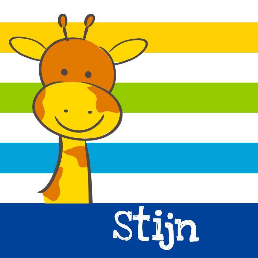 Geboortekaartjes - Geboortekaartje giraf jongen