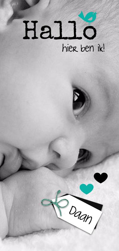 Geboortekaartjes - Geboortekaartje hallo, lieve baby