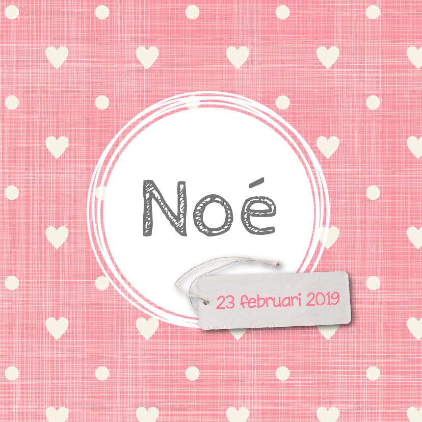 Geboortekaartjes - Geboortekaartje-hartjes-Noé-SK