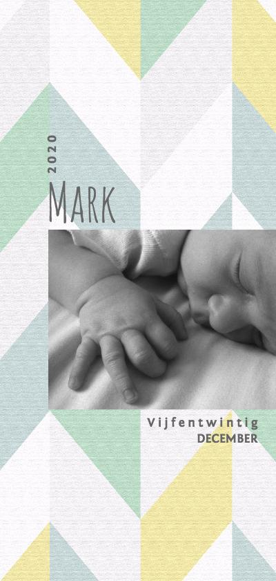 Geboortekaartjes - Geboortekaartje hip jongen