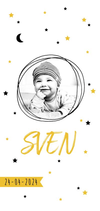 Geboortekaartjes - Geboortekaartje hip sterren maan foto