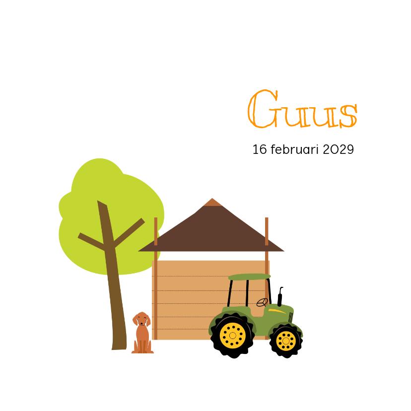 Geboortekaartjes - Geboortekaartje hooiberg met tractor