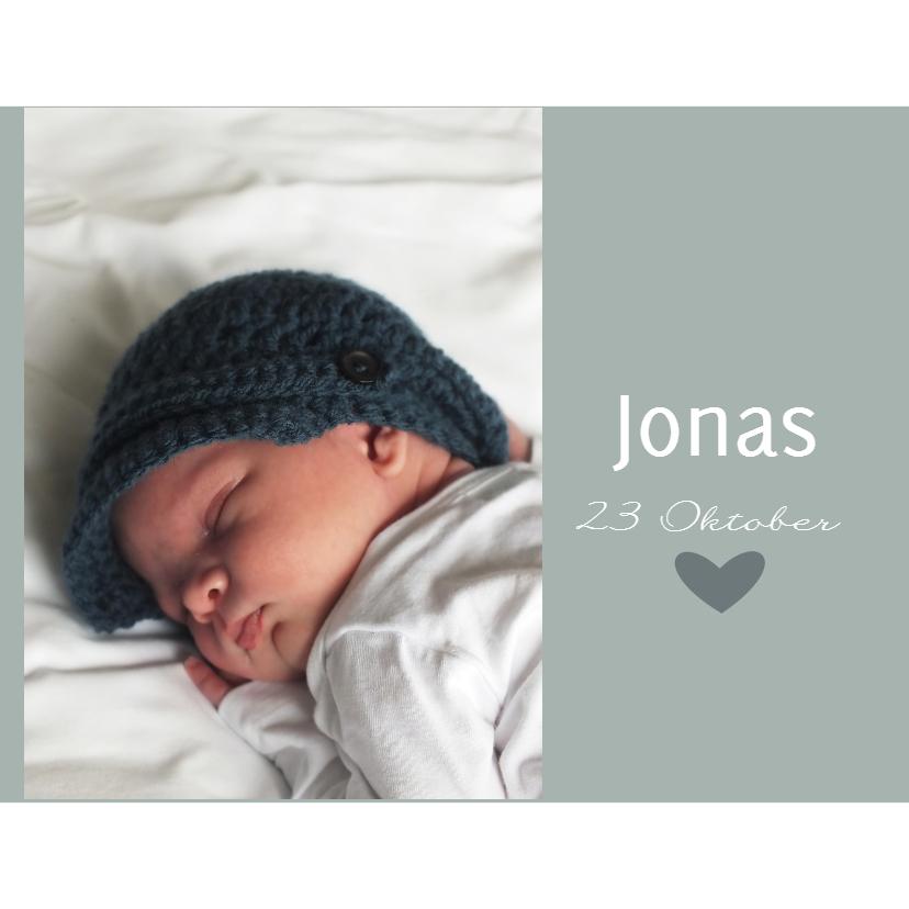 Geboortekaartjes - Geboortekaartje Jonas