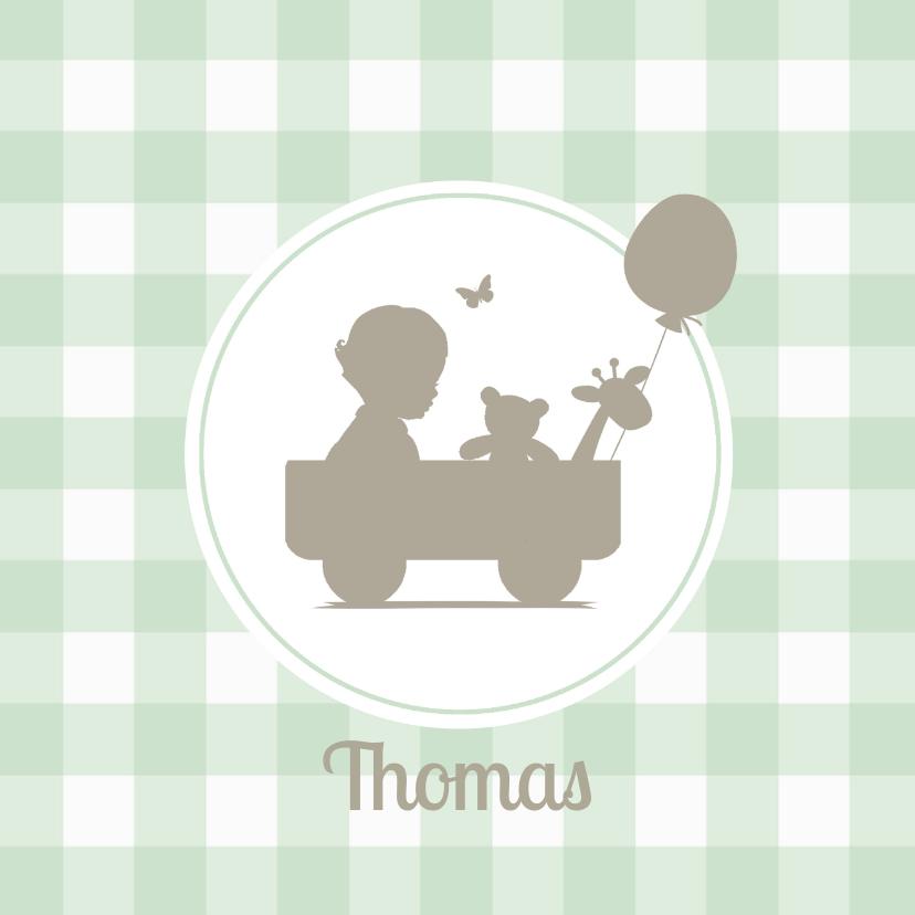 Geboortekaartjes - Geboortekaartje jongen silhouet