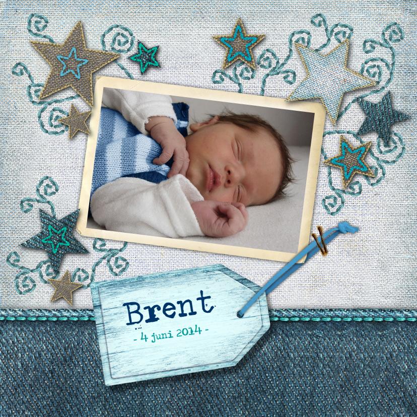 Geboortekaartjes - geboortekaartje jongen ster hip trendy