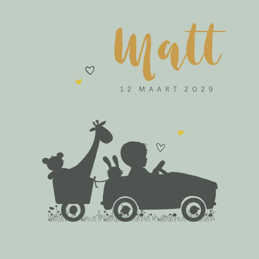 Geboortekaartjes - Geboortekaartje jongen trapauto