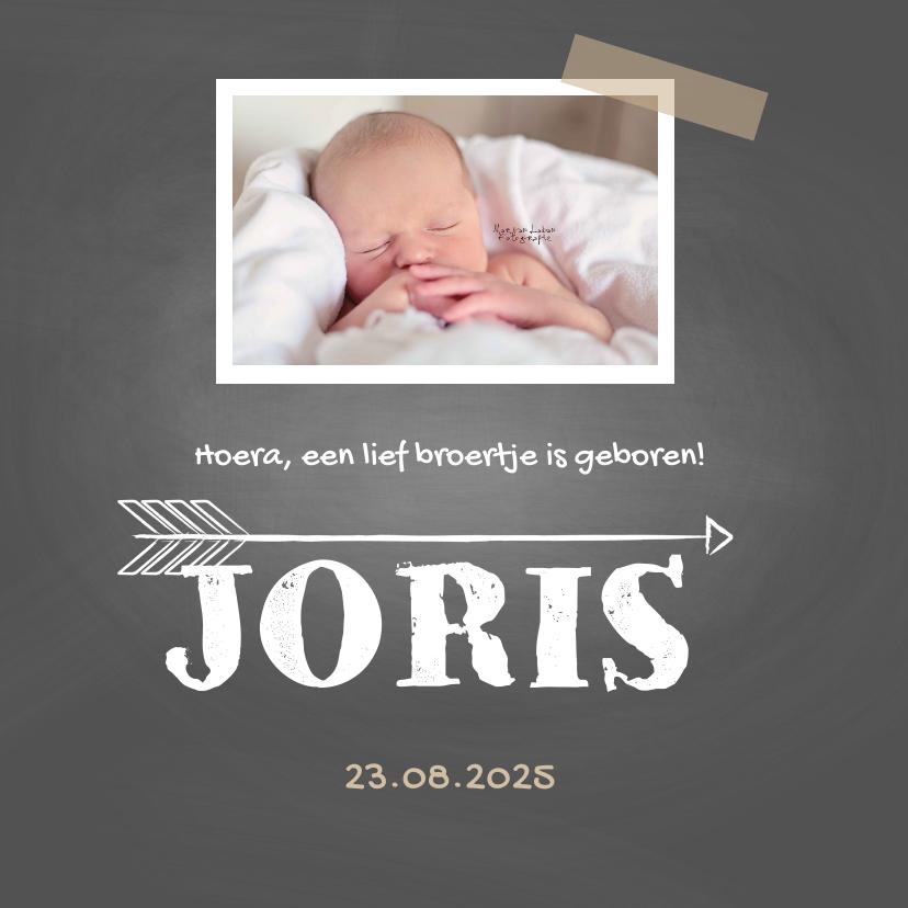 Geboortekaartjes - Geboortekaartje Joris krijt