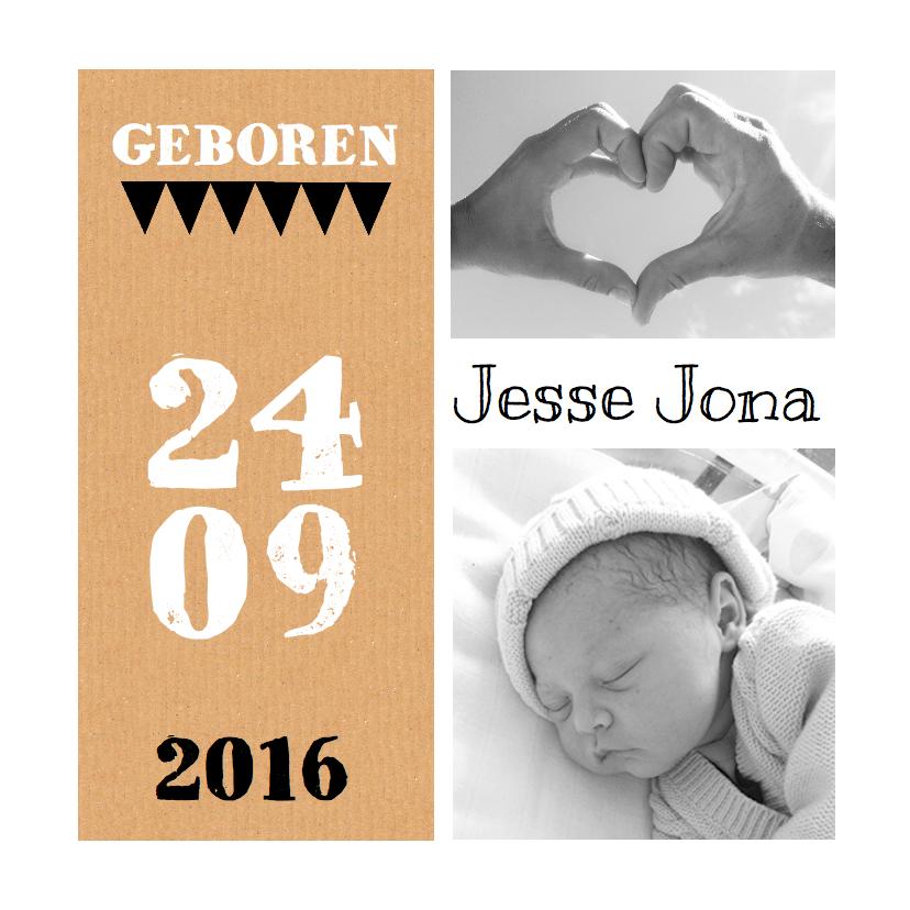 Geboortekaartjes - Geboortekaartje karton foto's