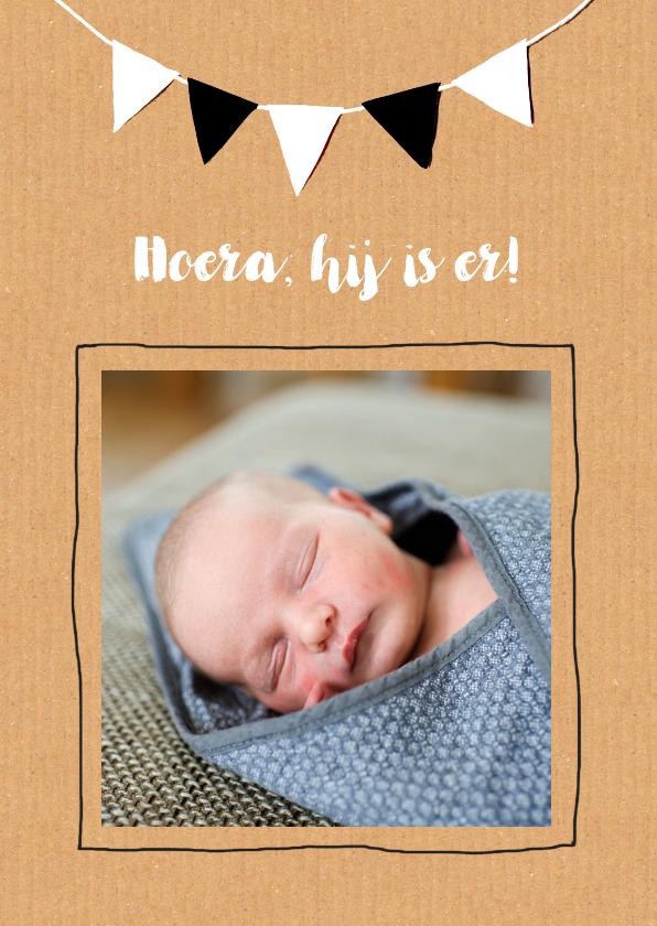 Geboortekaartjes - Geboortekaartje karton Jona