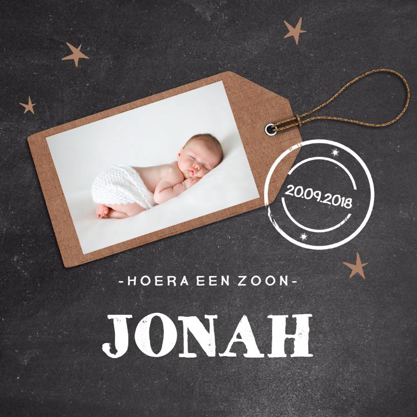 Geboortekaartjes - Geboortekaartje krijtbord label