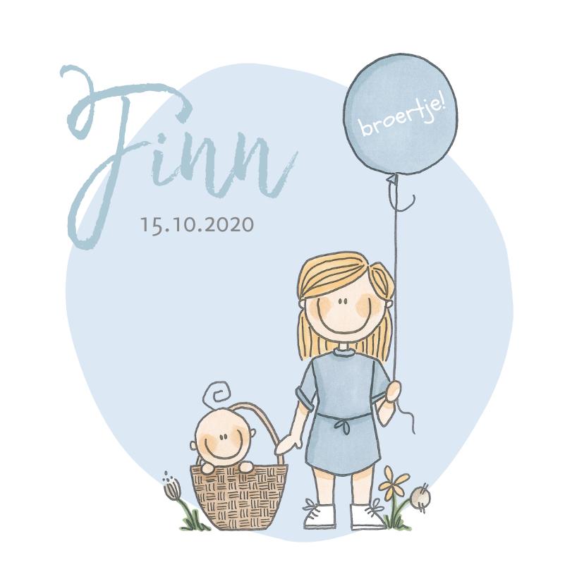 Geboortekaartjes - Geboortekaartje lief en origineel broertje!
