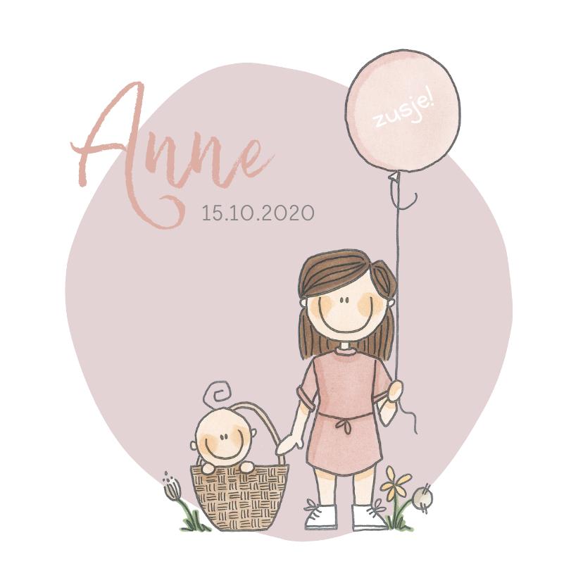 Geboortekaartjes - Geboortekaartje lief en origineel zusje!