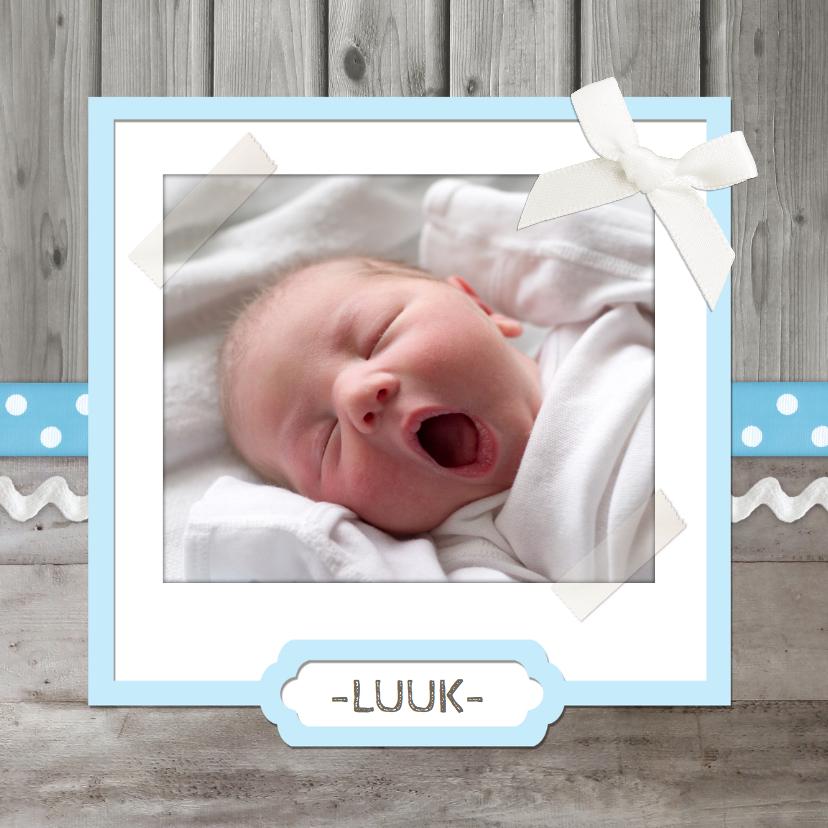 Geboortekaartjes - Geboortekaartje Lief Hout Jongen