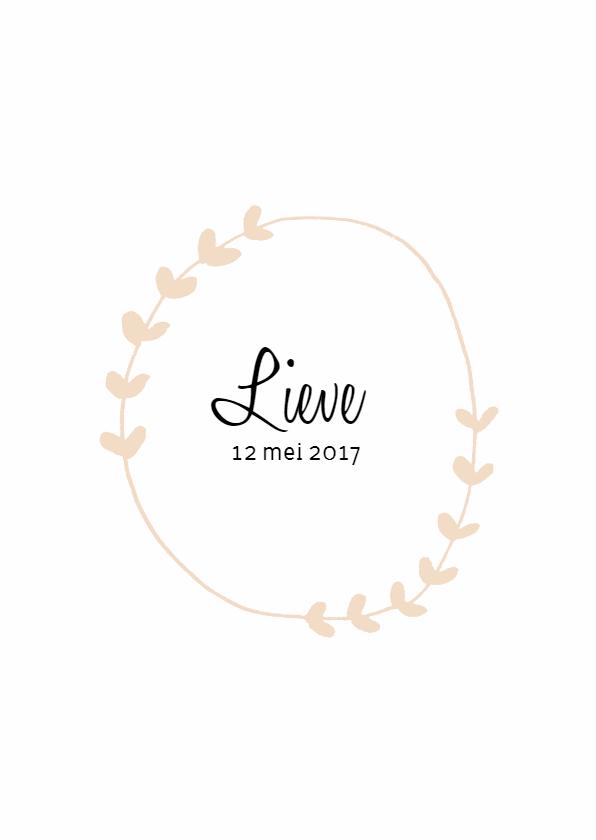 Geboortekaartjes - Geboortekaartje Lieve - HM