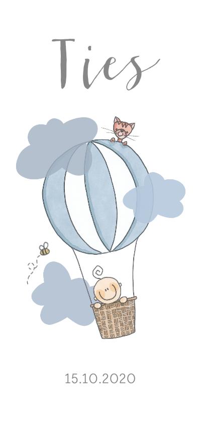 Geboortekaartjes - Geboortekaartje luchtballon jongen