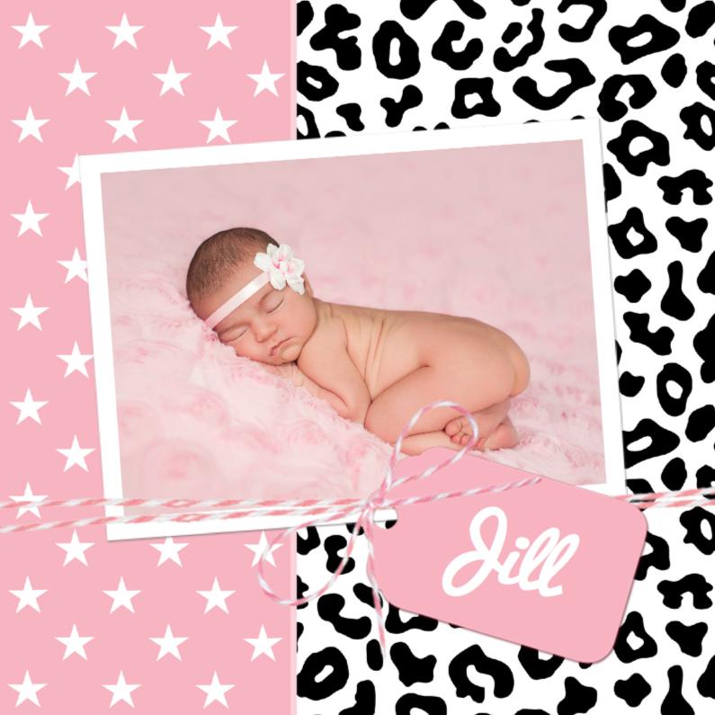 Geboortekaartjes - Geboortekaartje Luipaardprint