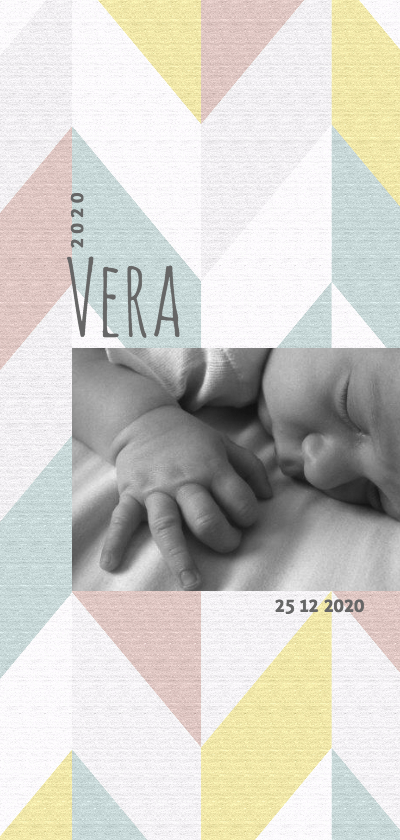 Geboortekaartjes - Geboortekaartje meisje hip