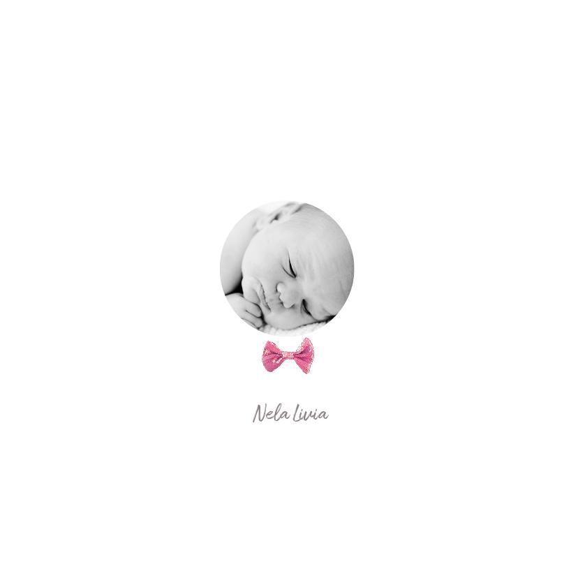 Geboortekaartjes - Geboortekaartje meisje strik