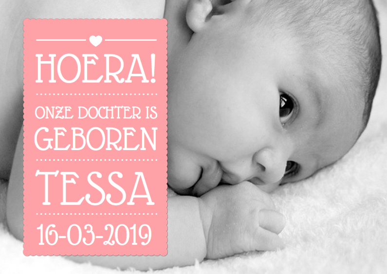 Geboortekaartjes - Geboortekaartje Meisje Tekst