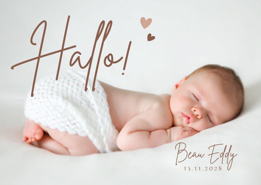 Geboortekaartjes - Geboortekaartje met je mooiste babyfoto