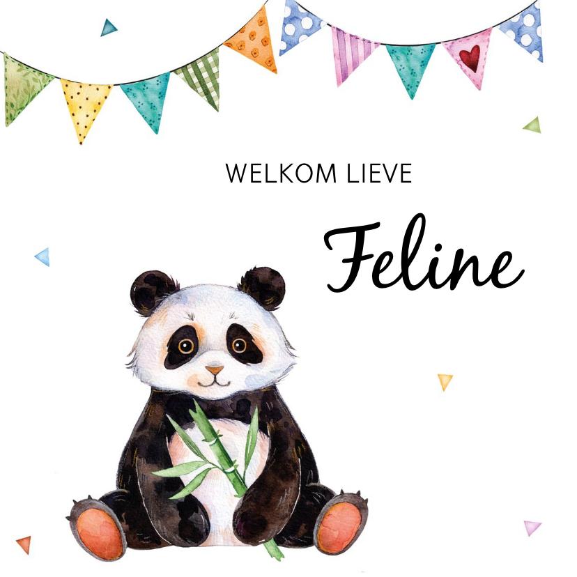Geboortekaartjes - Geboortekaartje met lieve panda