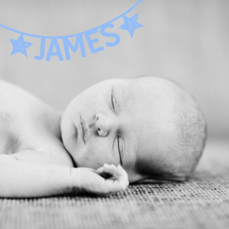 Geboortekaartjes - Geboortekaartje naamslinger hip