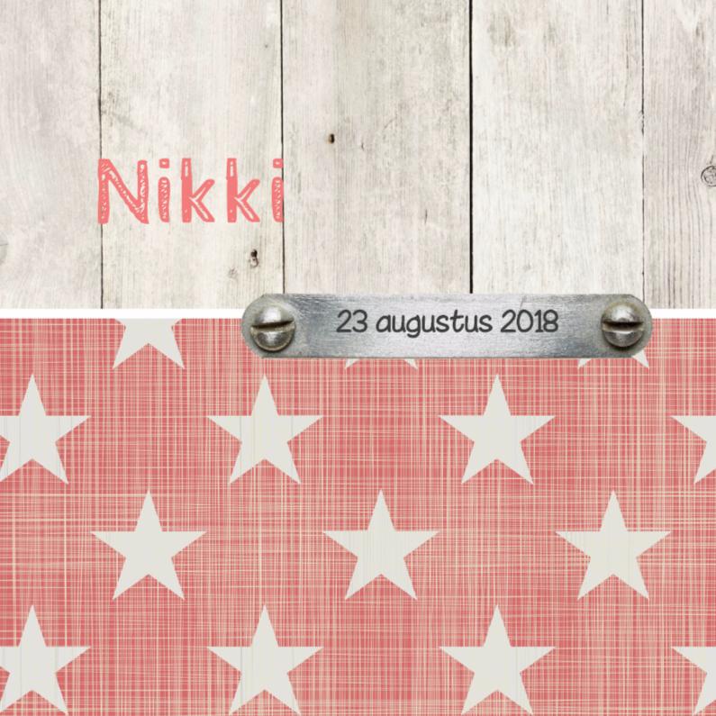 Geboortekaartjes - Geboortekaartje Nikki