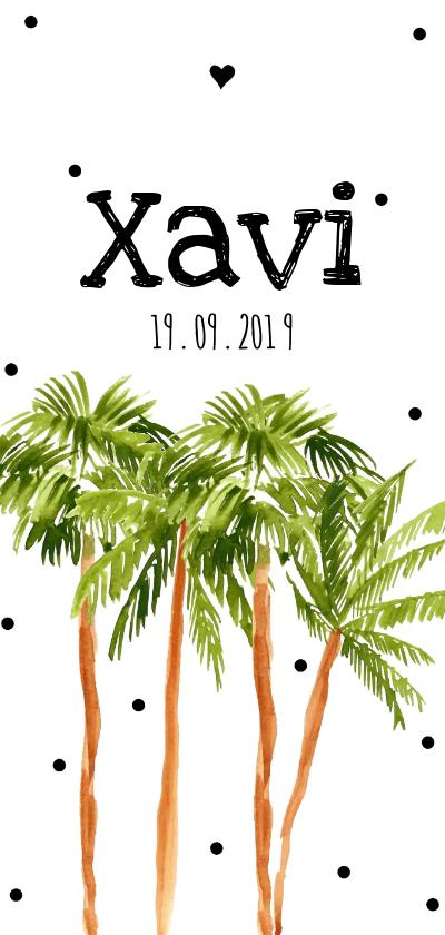 Geboortekaartjes - Geboortekaartje palmbomen