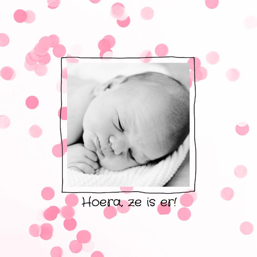Geboortekaartjes - Geboortekaartje pastel confetti