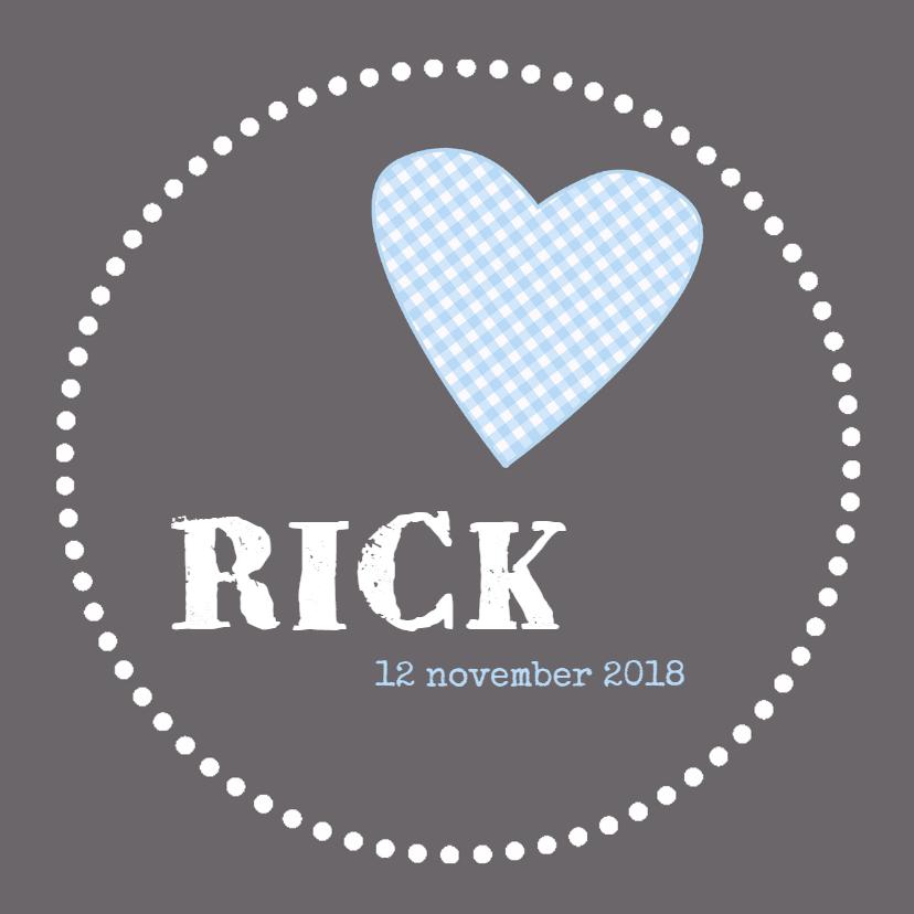 Geboortekaartjes - Geboortekaartje Rick HC
