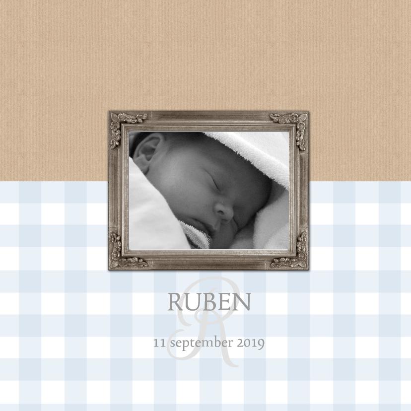 Geboortekaartjes - Geboortekaartje Ruben lijst