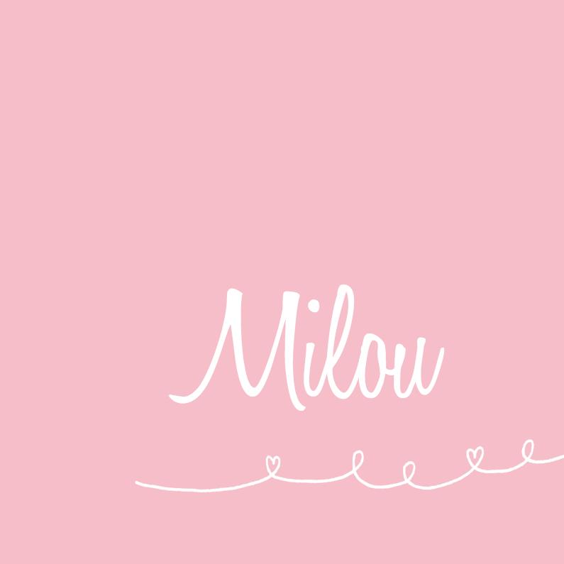 Geboortekaartjes - Geboortekaartje rustig roze