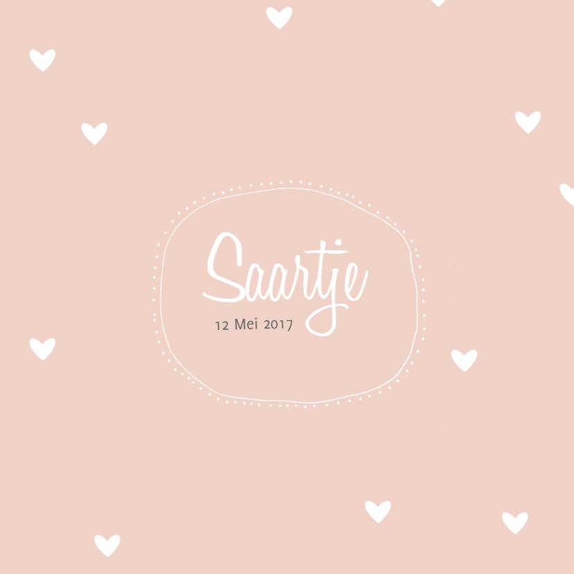 Geboortekaartjes - Geboortekaartje Saartje - HM