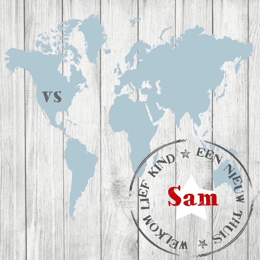 Geboortekaartjes - Geboortekaartje Sam